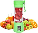 Portable Blender, 380ml , Personal Mixer Fruit Rechargeable with USB, Mini Blender for Milk Shakes, Smoothie, Fruit Juiceor for Sports, Office, Travel, Gym, and Outdoors (Green)