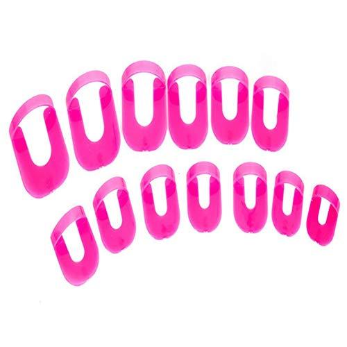 26Pcs Nail Tool Modèle anti-débordement Clip Clip Vernis à ongles Colle Durable Clip anti-éclaboussures, Nail Art Soak Off Cap Clip UV Gel Dissolvant