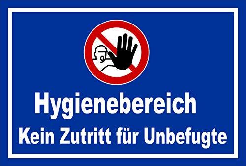 Melis Folienwerkstatt Schild Hygienebereich - 30x20cm - Bohrlöcher - 3mm Hartschaum – 20 VAR S00225-004-F