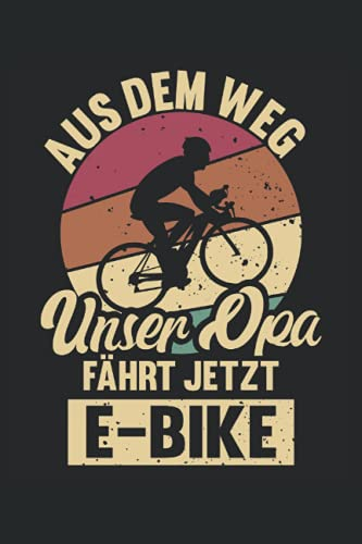 E-Bike Opa Notizbuch (liniert) Radfahrer...