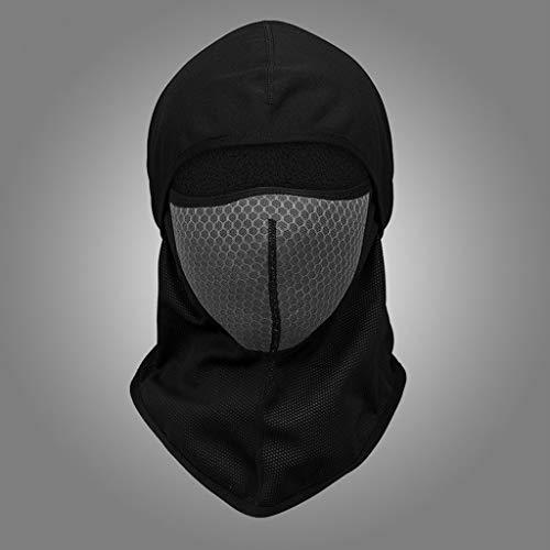 JIAAN Balaclava Máscara Pasamontañas Moto Pasamontañas Moto Negro Impermeable Esquí Ciclismo Snowboard Máscara Facial de Deportes al Aire Libre Calentar a Prueba de Viento Tamaño Universal