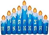 Gemmy Airblown Inflatable 8 1/2' Happy Hanukkah Candle Scene Yard Decoration