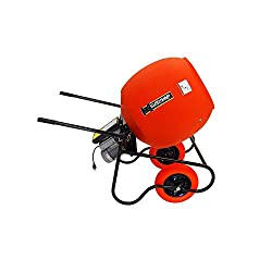 small Wheelbarrow mixer, 6ccm feet, 115V, 3/4 HP