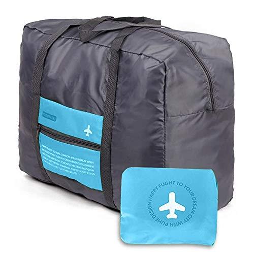 Borsa da viaggio Borsone da viaggio pieghevole archiviazione bagagli corsa della spalla dell\'organizzatore di immagazzinaggio per viaggio campeggio palestra Shopping Sports (blu)