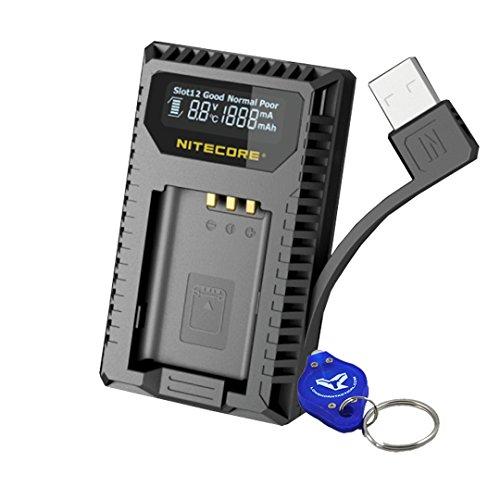 NITECORE USN2 Digital Dual Slot Travel Camera Charger for Sony NP-BX1 Batteries; Compatible w/DSC-HX350, DSC-H400, DSC-HX400, DSC-RX100M5, DSC-RX1RM2, DSC-RX100M4, DSC-WX500, DSC-HX90 & Keychain