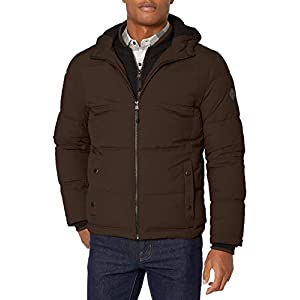 Men's Chazy Hooded Bibby Jacket with Polyfill Insulation
