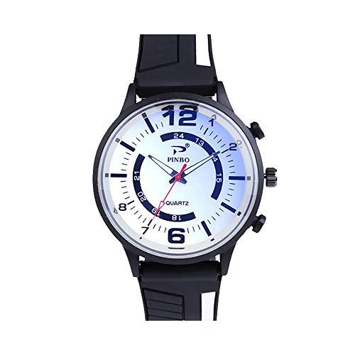 Godagoda, orologio al quarzo da uomo, doppio display analogico, in gel di silicone, blu Ray