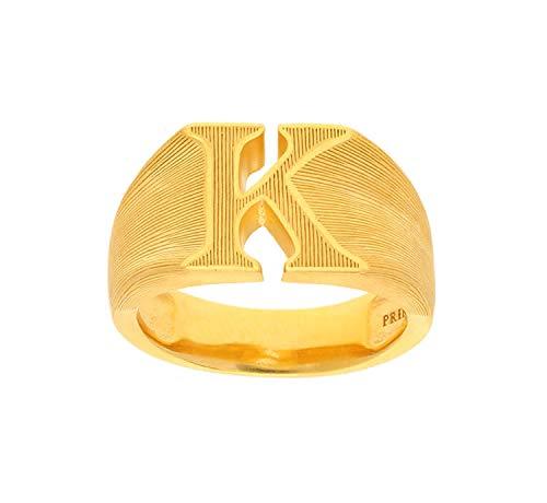 PRIMAGOLD(プリマゴールド) 24K Mens 純金 イニシャルK リング(アルファベット) 24金 純金 K24YGメンズ 男性用 ゴールド (16.5)