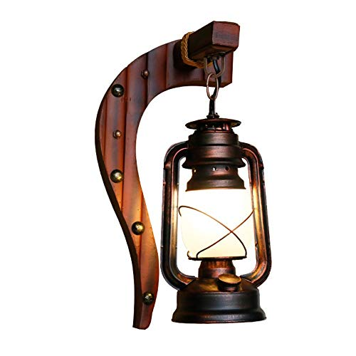 MJSM Light wandlamp Chinese antieke wandlamp slaapkamer balkon wandlamp retro ouderwetse petroleumlamp lantaarn bar cafe, 20x40cm