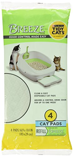 Breeze Tidy Cat Litter Pads 16.9'x11.4' - 2 Pack of 4 Pads (2-Pack)