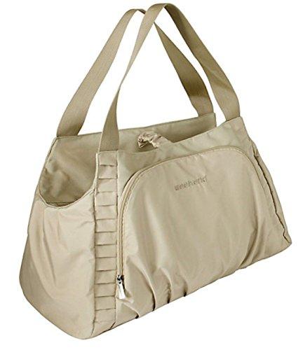 Dynamic24 Damen Shopper beige Handtasche Reisetasche Umhänge Sport Tasche Messenger Bag