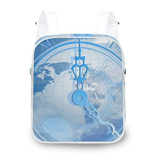 MALPLENA Malpley Multifunktions-Rucksack, mit Uhren-Muster, Blau