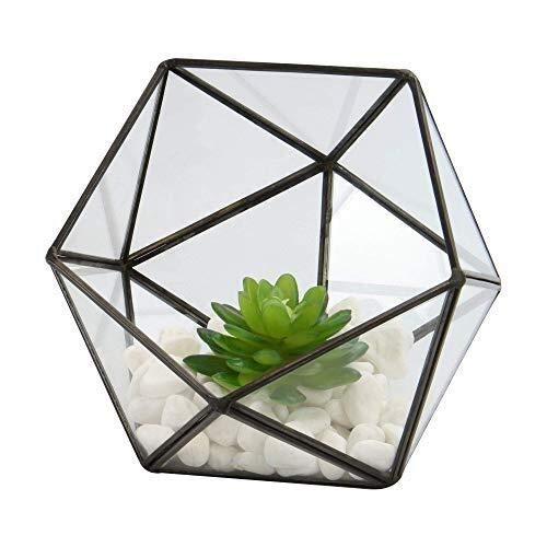 Nep Plant Half Bal Glas Terrarium Huis Plant Pot Plant Mini Kas Koffietafel Plant Terrarium Kit