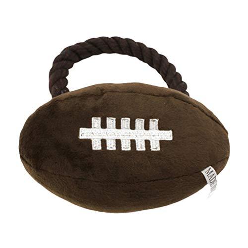 zNLIgHT Verwendung für Haustier Hund Katze Welpe Baumwolle Seil Basketball Fußball Plüsch Puppe Kauen Quietschendes Spielzeug - Rugby *