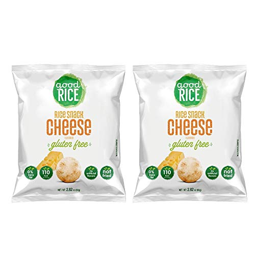 Good Rice Cheese flavored Rice Snacks, Gluten Free ( pack X2 )