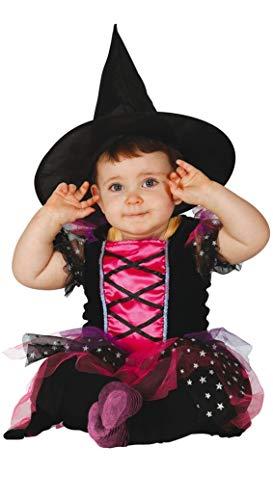 Guirca - Déguisement de traîneau pour bébé 6/12 mois, couleur fuchsia et noir, 1 an, 83036