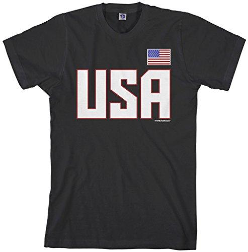Threadrock Men's USA National Pride T-Shirt 2XL Black