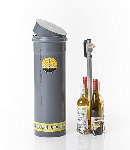 BIERSAFE WEINSAFE Outdoor - Erdloch- Wein- und/oder Bier-Kühler/Getränke- Geheim- Depot/Versteck/Kühl-Gadget stromfrei
