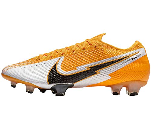 Nike Vapor 13 Elite Fg - Láser de color naranja, blanco y negro, talla 11