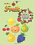 Smiling Fruit: 'NICE DOT 1' Connecting the Dots Book (Dot-to-Dot), Activity Book for Kids, Aged 4 to 8 Years, Large 8.5 x 11 inches, Beautiful, Cute ... Improve Pencil Grip, Help Relax, Soft Cover