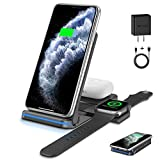 Wireless Charger ,3 in 1 Wireless Charging-Station for Apple-Products iPhone