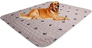 SincoPet Washable Dog Pee Pads + Puppy Grooming Gloves,Puppy Pads,Reusable Pet Training Pads,Large Dog Pee Pad/Waterproof Pet Pads for Dog Bed Mat/Super Absorbing Whelping Pads