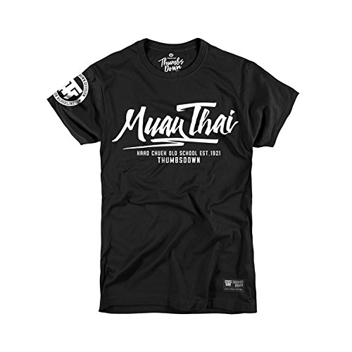 Thumbs Down Muay Thai T-Shirt para Hombre. Kaad Chuek. Gym.