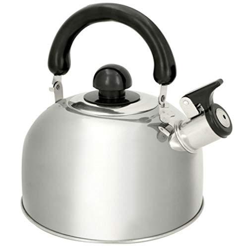 TronicXL FLÖTENKESSEL Retro Design Wasserkocher manuell ohne Strom für jeden Herd - für Kaffee Tee Wasser Kocher Watter Kettle Vintage Shabby Chic Landhaus Stil 1,8 Liter Herdplatte