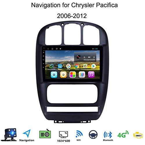 Jxiao Autoradio GPS Sat NAV Android 8.1 10.1 Zoll für Chrysler Pacifica 2006-2012 Unterstützung FM AM/Quad-Core-Multimedia/Bluetooth Lenkrad-Steuerung/Hand-Free Calling/Mirrorlink