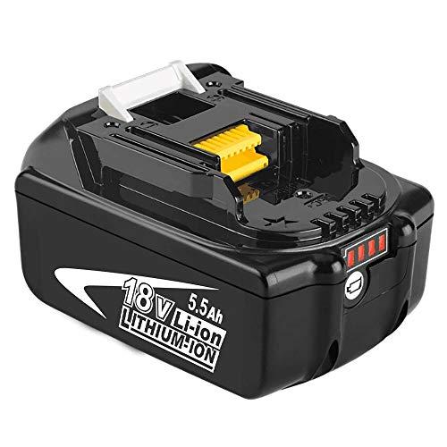 Moticett BL1860B Ersatz für Makita 18V Batterie BL1860B 1860 BL1850B BL1850 BL1840 BL1830 LXT400 194205-3 194309-1 194204-5 196399-0 196673-6 LXT-400 mit LED-Anzeige Schnurloses Elektrowerkzeug