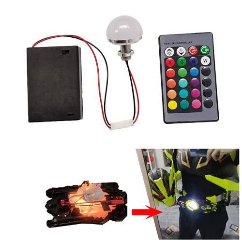 Nueva fuente de luz de 3 W fuente de luz LED cuentas AA batería caja pequeñas bombillas DIY modelo creativo linterna hecho a mano, para cosplay casco DIY tiras de luz superhéroe