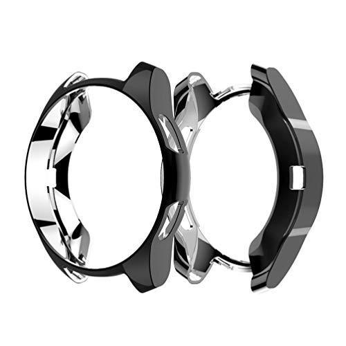 Hemobllo kompatibel mit Samsung smart Watch 42mm weiches TPU stoßfest rundum Schutz stoßstangenkoffer uhrenschutz rahmenabdeckung für samsunggear s3 (schwarz)