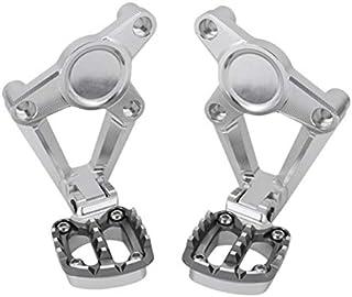 Yctze Reposapi/és de la carretera de la motocicleta 2Pcs 32mm Cromo Reposapi/és de la motocicleta Reposapi/és con soporte apto para GoldWing GL1500 GL1800