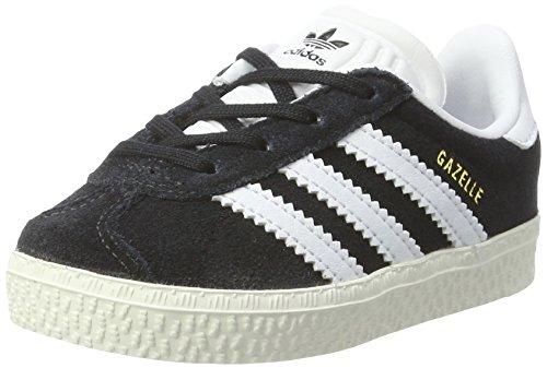 adidas Gazelle I, Zapatillas de Estar por casa Unisex niños, Negro (Negro-(Negbas/FTWBLA/Dormet), 22 EU