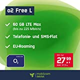 Handyvertrag o2 Free L - 60 GB Internet Flat, Allnet Flat Telefonie & SMS in alle Deutschen Netze, EU-Roaming, 24 Monate Laufzeit