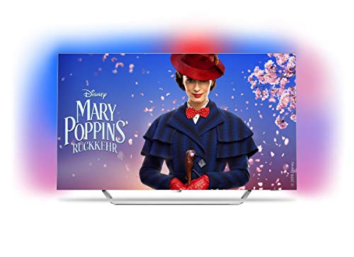 Produktbild von Philips TV 65OLED873/12 164cm (65 Zoll) LED-Fernseher (Ambilight, OLED 4K Ultra HD, Android TV), hellsilber