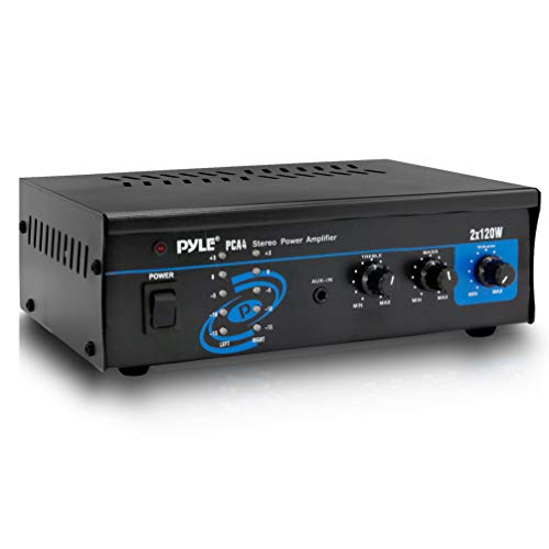Pyle 2x120 Watt Home Audio Speaker Power Amplifier - Portable Dual Channel Surround Sound Stereo Receiver - for Amplified Subwoofer...