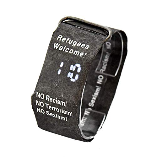 BOLLAER Kreative digitale Armbanduhr aus Papier, lässige Uhren aus Papier, wasserdicht, super leicht, langlebig, mit Magnetsystem, bestes Geschenk