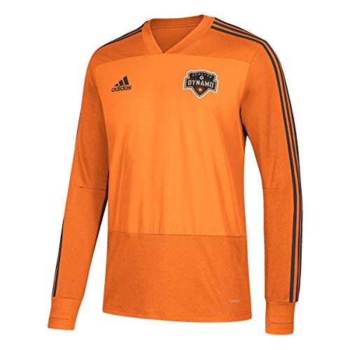 adidas Houston Dynamo MLS Men's Orange Climacool Long Sleeve Team Color Training Jersey (S)