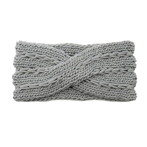 Calentador de Orejas Moda otoño Invierno Diadema de Punto Crochet orejera cálido...