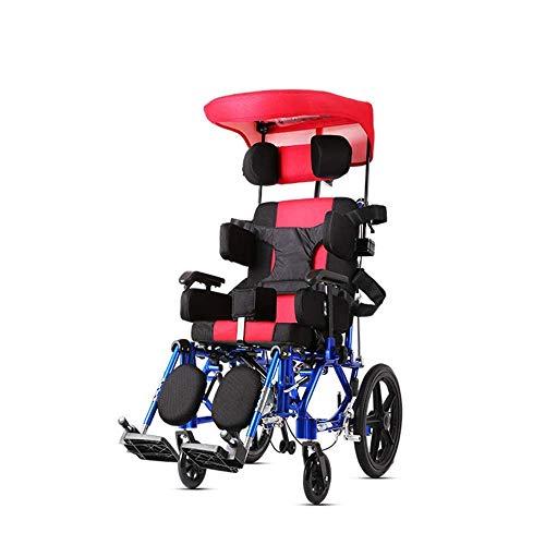 CLJ-LJ Silla de rehabilitación médica, silla de ruedas, sillas de ruedas for niños 26Kg médico del transporte ergonómico cómodo avanzada Apoyabrazos respaldo regulable Piernas 100Kg de carga del cojin