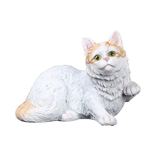 Estatua Creativa Realista del Gato Animal En El Jardín, Resina Artesanías Sala De Estar Artículos Decorativos Escultura, Figura De Gato De Arte De Estilo Moderno, para Hogar Y Exterior,B