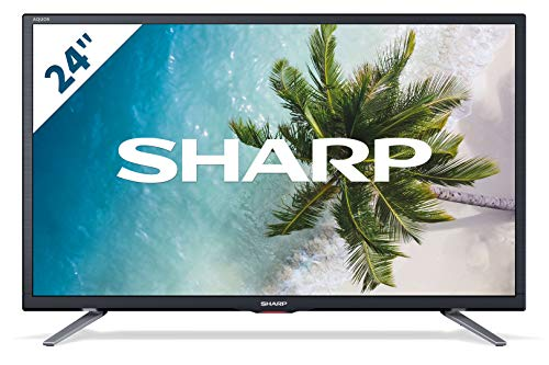 """Sharp LC-24CHG5112E - TV de 24"""" (resolución 1368 x 720, 2 x HDMI, 1 x USB), color negro"""