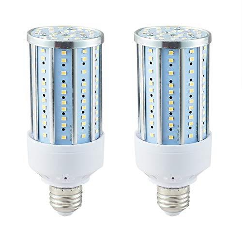 LED Corn Light Bulb, 200 Watt Equivalent LED Bulb, 25W Led Corn Light Bulb,200W Light Bulb, Daylight 6000K, 2000LM E26   E27 Base, for Photo Light,Warehouse,Garage Lighting, Barn, Patio, etc. 2 Pack