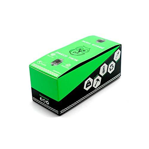 Preco Tank, Box 10 Atomizzatori Mesh Coil 0.15 Ohm, 24 mm (Colore Ash) (Prodotto Senza Nicotina)