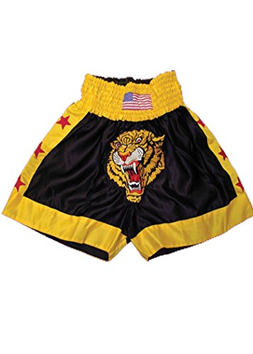 Woldorf USA Muay Thai Tiger Shorts Size M Sparring, Grappling Gloves, Kickboxing, Fighting Gloves, Muay Thai Training Gloves, Heavy Bag Boxing Gloves for Speed Punching