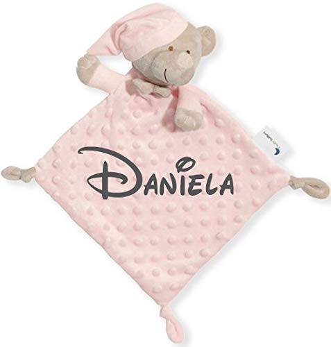 Dou Dou Atrapasueños - Personalizado, Nombre Bordado - mibebestore | Regalo Baby Shower (Rosa)