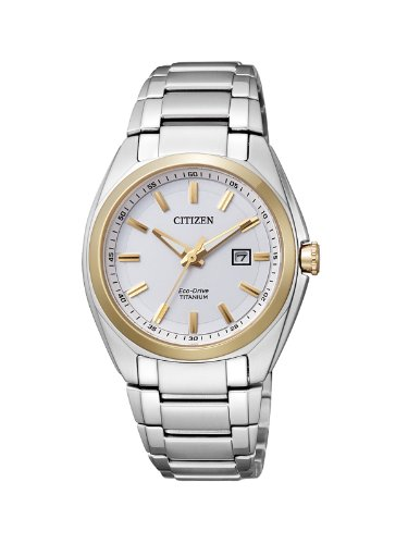 Citizen Damen-Armbanduhr XS Super Titanium Analog Quarz Titan EW2214-52A