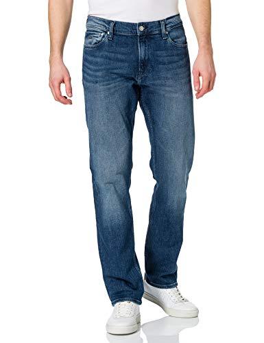 Calvin Klein Jeans Straight Jeans, Mezclilla Oscuro, 36W / 32L para Hombre