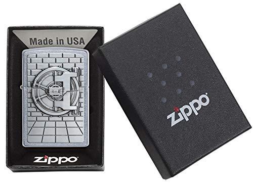 Zippo Unisex Seguro con Caja Sorpresa Regular Resistente al Viento más Ligero, Calle Chrome, un tamaño 1